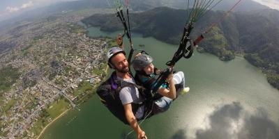 Paragliding from Sarangkot-Pokhara